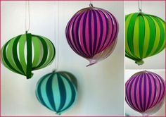 *Very Pretty* DIY Paper Ornaments - Pepper Design Blog