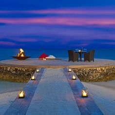 W-Retreat, Maldives- An exotic Valentine resort. One of the most romantic evenings you can imagine......