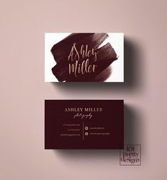 Ideas Photographer Business Cars Design Logos For 2019 Watercolor Business Cards, Makeup Artist Business Cards, Gold Business Card, Fashion Business Cards, Salon Business Cards, Webdesign Inspiration, Photographer Business Cards, Branding Design, Logo Design