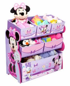 Price: Disney Multi-Bin Toy Organizer, Minnie Mouse:Minnie Mouse toy organizer is a suitable gift to get your child excited about putting away her toys Kids Storage, Toy Storage, Fabric Storage, Storage Chest, Storage Rack, Mini Mickey, Minnie Mouse Toys, Minnie Mouse Nursery, Ideas Habitaciones
