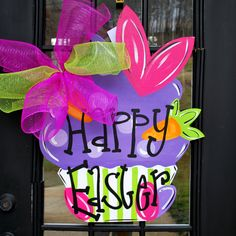 Easter+Door+Hanger+Easter+Decoration+Easter+by+LooLeighsCharm,+$45.00