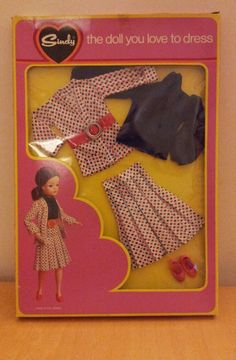 1975 Sindy doll outfit Paris in the Spring mint in pack. Sindy Doll, Fur Wrap, Night Outfits, Fashion Dolls, Fashion Outfits, Barbie Clothes, Vintage Dolls, My Childhood, Patches
