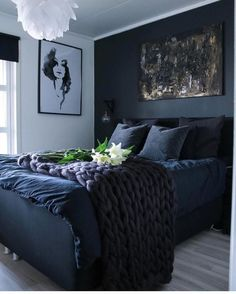 The Best Colors for Your Bedroom: These bedroom Colors Will Improve Your Sleep. bedroom decor ideas, home decor ideas Bedroom Wall Colors, Bedroom Color Schemes, Room Ideas Bedroom, Cozy Bedroom, Home Decor Bedroom, Colourful Bedroom, Design Bedroom, Bed Room, Dark Blue Bedrooms