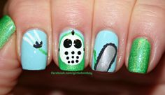 Dumb Ways to Die Psycho Killer nails