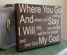 Where You Go, 10x12 Canvas Wrap. $40.00, via Etsy. Available in various sizes, colors, and as a stand out print (prices will vary). Have it, love it.