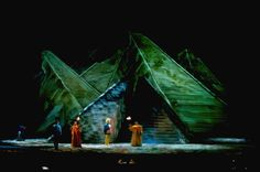The Magic Flute, lit with Michael Gottlieb for Sir Peter Hall, designer Gerald Scarfe, and the LA Opera