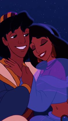 Aladdin and Jasmine. My favorite Disney couple Disney Animation, Disney Pixar, Walt Disney, Disney Couples, Disney Films, Disney And Dreamworks, Disney Cartoons, Disney Art, Disney Characters