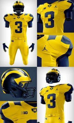 Loved this uniform. Hope they wear it again. Michigan Football Helmet, College Football Helmets, Football Is Life, Nike Football, Football Stuff, Michigan Athletics, University Of Michigan, Football Uniforms, Sports Uniforms