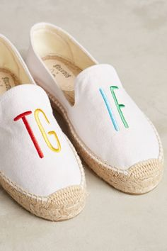 Slide View: 6: Soludos Embroidered TGIF Espadrilles