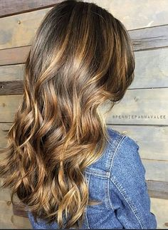 caramel and cocoa brunette highlights