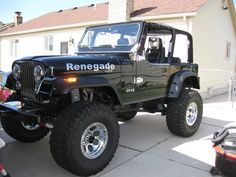 "1982 Jeep CJ-7 Renegade, Chevy Big Block 468 – mildly built with about 400 horsepower Turbo 350 Transmission with a 205 Transfer case, B&M QuickSilver Shifter, Warn XCL (Extreme Coil Link) Long Arm Suspension with Fox Shocks, Ford 9"" Rear Axle with 4.10 gears and locker, Dana 30 Front Axle with 4.10's, 36""x15.50""x16"" Mickey Thompson MTZ's on 16""x10"" Mickey Thompson Classic Locks"