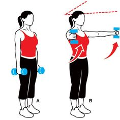 Easy dumbbell raises to tone and strengthen arms