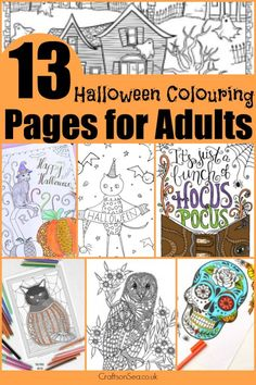 Indulge your inner ghoul with these 13 totally free Halloween colouring pages for adults. Spooky? Relaxing? These printables are both!