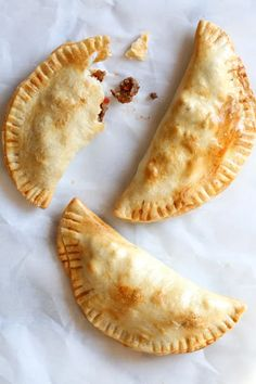 """These easy beef empanadas made with my homemade beef picadillo filling and store bought empanada dough are """"fried"""" in the air fryer for empanadas that area ready in minutes (only takes 8 minutes to cook)! Beef Empanadas, Empanadas Recipe, Air Fryer Dinner Recipes, Air Fryer Recipes Easy, Beef Picadillo, Air Fryer Baked Potato, Food Tasting, Food To Make, Empanada Dough"""