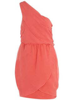 Coral one shoulder dress - BM's?