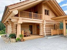 Woodworking Projects and Plans is Aimed For Woodworkers Who Want To Learn Some Serious Techniques About Woodworking. Cabin House Plans, Tiny House Cabin, Log Cabin Homes, Log Cabins, Shed Design, Balcony Design, House Design, Cabins In The Woods, House In The Woods