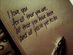 I love you for all that you are love love quotes quotes quote i love you love images love sayings Cute Quotes, Great Quotes, Inspirational Quotes, Motivational Quotes, Funny Quotes, Cute Love Sayings, Mcm Quotes, Positive Quotes, Simple Love Quotes