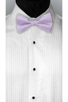 The classic and elegant lilac Imperial bow tie is a perfect match to the lilac Imperial vest. The perfect compliment for any tuxedo or wedding suit. It will make you stand out at any wedding, prom or black tie event. The Imperial bow tie is available in 77 colors. Remember: Tuxedo Junction can coordinate with all major bridal shops' colors. - TuxedoJunction.com