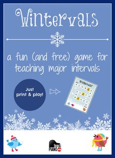 A free winter-themed piano teaching game for teaching major intervals. Piano Lessons For Kids, Violin Lessons, Music Lessons, Beginner Piano Music, Piano Games, Music Games, Free Piano, Piano Teaching, Music Activities