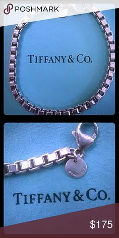 """🌟FLASH🌟TIFFANY & CO - VENETIAN BRACELET STERLING SILVER 7 1/2"""" VENETIAN LINK BRACELET. 15.8 GRAMS -HALLMARKED T & CO .925 (STERLING SILVER)  PERFECT ADDITION TO YOUR COLLECTION...   EXCELLENT CONDITION  COMES WITH POUCH! Tiffany & Co. Jewelry"""
