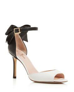 kate spade new york Izzie High Heel Ankle Strap Bow Pumps | Bloomingdale's