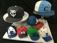 Sculpted Base Ball Hats!  always Custom from Little London Cake Shoppe