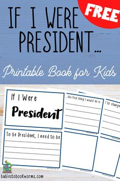 Practical Parenting, Parenting Tips, Cool Writing, Creative Writing, Presidents Book, If I Was President, Fun Writing Activities, Positive Books, Bookmarks Kids