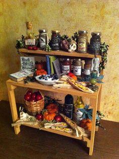 Dollhouse Miniature Halloween Haunted Potion Witch Kitchen rack- PieraArt  #PieraArt