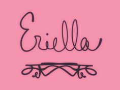 """Eriella. Variant of Ariella, """"lionness."""" See more baby name pins at http://www.pinterest.com/meggiemaye/for-love-of-names/"""