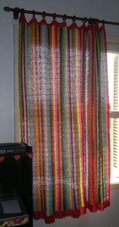 Best 10 Crochet Curtain: 40 models to decorate your home, Crochet Curtain Pattern, Crochet Shoes Pattern, Crochet Mandala Pattern, Crochet Curtains, Curtain Patterns, Crochet Patterns, Curtain Ideas, Hippie Crochet, Crochet Home