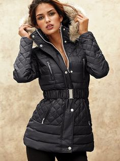 Looking for a new winter puffy coat with belt. I like this one just wish it was a little longer.