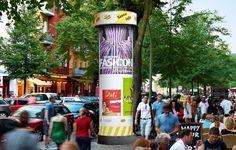 Litfaßsäulen, Allgemeinstelle, Szene-Netz, Berlin, Plakatwerbung