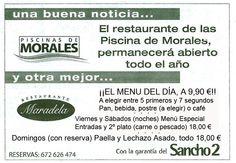El restaurante Maradela de Morales del Vino ABRE TODO EL AÑO. Precios populares.