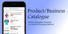 Product Catalog - Cordova App Template - Price $25