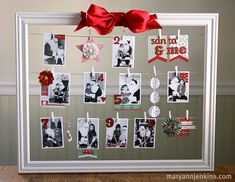 Santa & Me photo frame collage. Shows different photos with Santa different years. Neat idea!