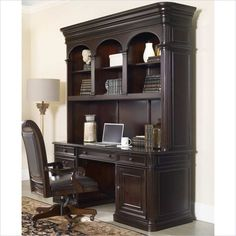 Colonnade Computer Credenza with Hutch in Ebony - 5134-10464-10467-KIT - Lowest price online on all Colonnade Computer Credenza with Hutch in Ebony - 5134-10464-10467-KIT