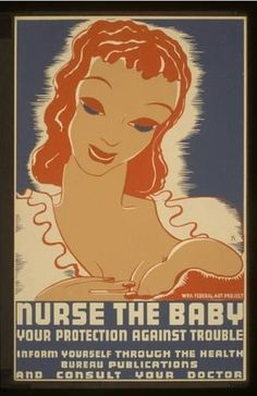 American Government poster promoting breastfeeding (1938)