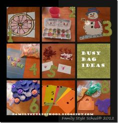 Yet, even more busy bag ideas!