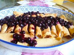 SPLENDID LOW-CARBING          BY JENNIFER ELOFF: CREAM CHEESE CREPES WITH BLUEBERRY SAUCE