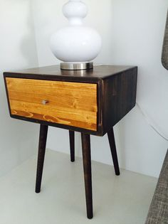 PLEASE ALLOW APPROX 60 DAYS TO SHIP  Shipping to all 48 states is $50  Handcrafted solid wood! Simple retro rounded corner design with tapered