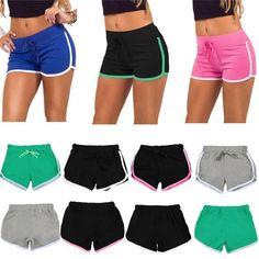 Hot Sale Sports Shorts Women Casual Shorts Loose Cotton Side Split Elastic Waist Women Shorts Running Shorts