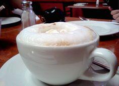 Best cappuccino in Lima. La Bodega de Trattoria, Lima, Peru.