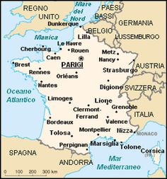Francia - Mappa