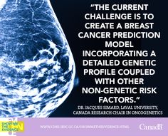 Let's Talk About Risk: Personalizing Breast Cancer Risk Prediction http://www.cihr-irsc.gc.ca/e/48093.html