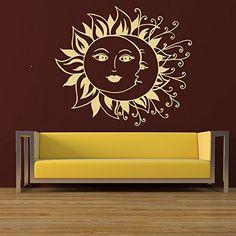 Wall Decals Vinyl Sticker Sun Moon Crescent Ethnic Dual Symbol Interior Decor Art Murals Nursery Home Decor Bedroom Art Design Interior M63 DecalStoreVienna http://www.amazon.com/dp/B0187PC63S/ref=cm_sw_r_pi_dp_fwItwb1H383SJ