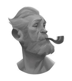 Old Man, Sungmin Jung on ArtStation at https://www.artstation.com/artwork/00YRV