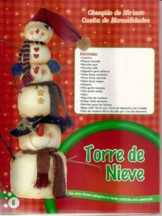 revistas de manualidades gratis Color Durazno, Christmas Snowman, Christmas Ornaments, Blog, Holiday Decor, Snowmen, Country, Ideas, The World