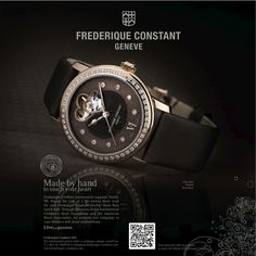 """This watch advertisement by Frederique Constant points out that a portion of their proceeds are donated to charity, enough for a heart scan. As this watch is backed up by a good cause, any buyers of this model would feel accomplished, as they would have indirectly donated towards a """"life-saving heart scan"""" at the International  Children's Heart Foundation and the American Heart Association."""