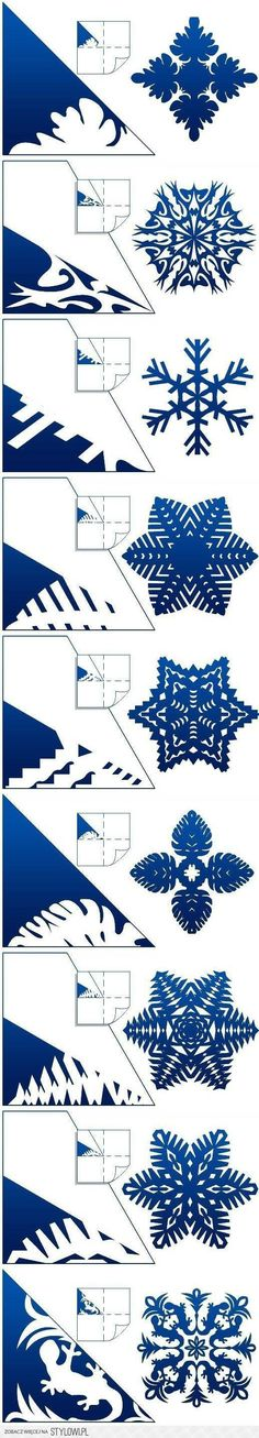DIY Schemes of Paper Snowflakes DIY Projects | UsefulDI… na Stylowi.pl