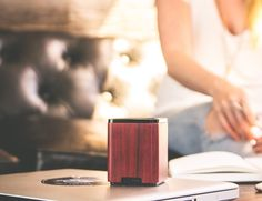 LSTN Satellite Portable #Wood #Speaker  Experience rich audio with the beauty of nature!